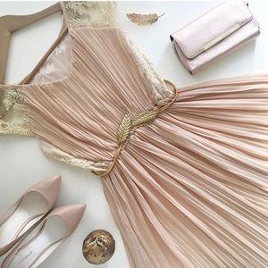 Accessories - Golden Elastic Leaf Belt